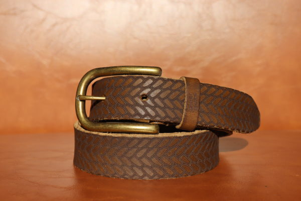 Woven Leather - Brown