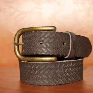 Woven Leather - Anthracite